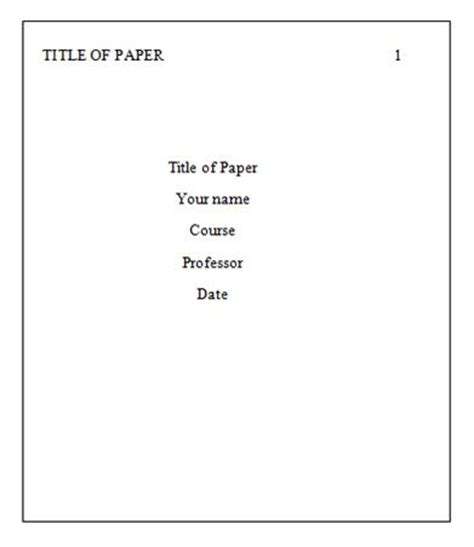 Essay title page template
